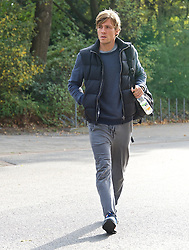27.10.2014, Trainingscenter, Bremen, GER, 1. FBL, SV Werder Bremen, Training, im Bild Clemens Fritz (SV Werder Bremen #8) auf dem Weg vom Parkplatz zur Kabine // during a Trainingssession of German Bundesliga Club SV Werder Bremen at the Trainingscenter in Bremen, Germany on 2014/10/27. EXPA Pictures © 2014, PhotoCredit: EXPA/ Andreas Gumz<br /> <br /> *****ATTENTION - OUT of GER*****