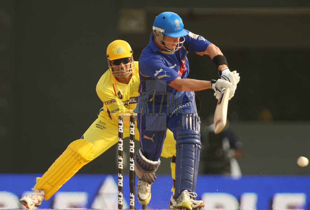 Shane Watson during match 43 of the Indian Premier League ( IPL ) Season 4 between the Chennai Superkings and c held at the MA Chidambaram Stadium in Chennai, Tamil Nadu, India on the 4th May 2011..Photo by Jacques Rossouw/BCCI/SPORTZPICS .