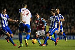 Ashley Westwood of Aston Villa passes under pressure - Mandatory by-line: Jason Brown/JMP - 18/11/2016 - FOOTBALL - Amex Stadium - Brighton, England - Brighton & Hove Albion v Aston Villa - Sky Bet Championship