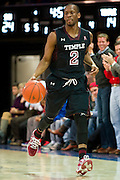 DALLAS, TX - FEBRUARY 6: Will Cummings #2 of the Temple Owls brings the ball up court against the SMU Mustangs on February 6, 2014 at Moody Coliseum in Dallas, Texas.  (Photo by Cooper Neill) *** Local Caption *** Will Cummings