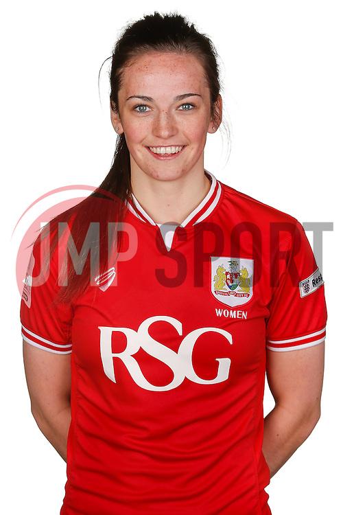 Chloe Arthur of Bristol City Women poses for a headshot - Mandatory byline: Rogan Thomson/JMP - 21/02/2016 - FOOTBALL - Stoke Gifford Stadium - Bristol, England - Bristol City Women Team Photos.
