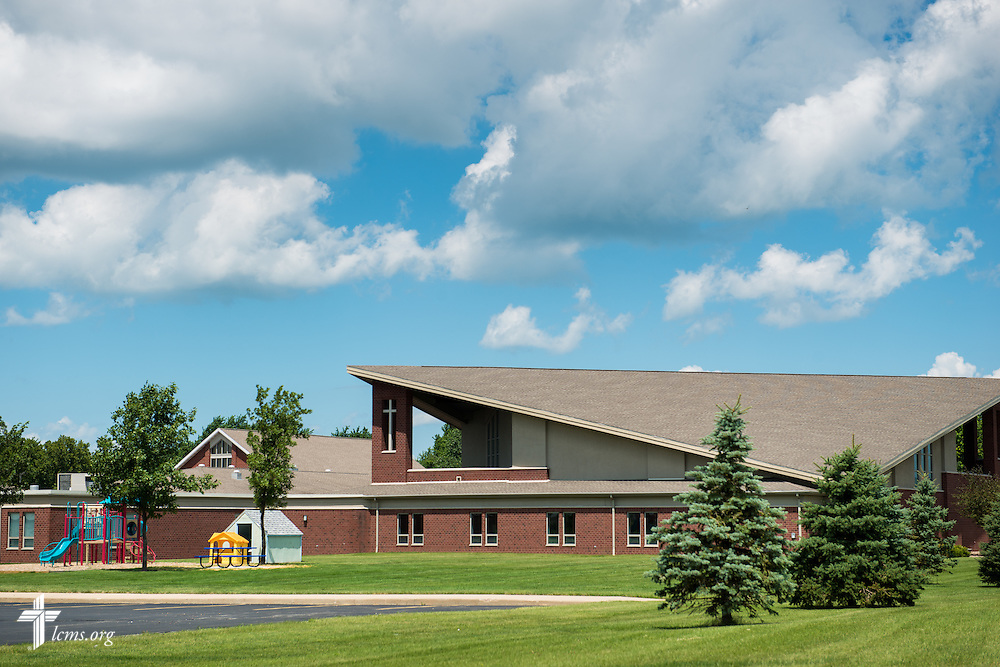 Exterior photograph on Sunday, July 27, 2014, of Christ Lutheran Church in Normal, Ill. LCMS Communications/Erik M. Lunsford