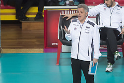 December 12, 2017 - Busto Arsizio, Varese, Italy - Marco Mencarelli (head coach Yamamay e-work Busto Arsizio) during the Women's CEV Cup match between Yamamay e-work Busto Arsizio and ZOK Bimal-Jedinstvo Brcko at PalaYamamay in Busto Arsizio, Italy, on 12 December 2017. Italian Yamamay e-work Busto Arsizio team defeats 3-0 Bosnian ZOK Bimal-Jedinstvo Brcko. (Credit Image: © Roberto Finizio/NurPhoto via ZUMA Press)