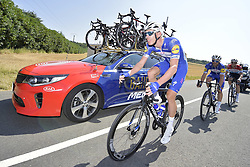 July 14, 2018 - Amiens Metropole, FRANCE - Belgian Tim Declercq of Quick-Step Floors pictured in action during the eighth stage of the 105th edition of the Tour de France cycling race, from Dreux to Amiens Metropole (181 km), in France, Saturday 14 July 2018. This year's Tour de France takes place from July 7th to July 29th. BELGA PHOTO YORICK JANSENS (Credit Image: © Yorick Jansens/Belga via ZUMA Press)