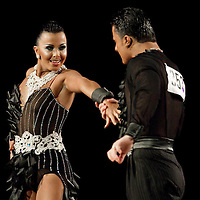 23 January 2010: Vincenzo Marinello and Sara Casini perform during the Masters Bercy Latin and Ballroom (standard) Dancesport Championship 2010, at Palais Omnisports Paris Bercy, in Paris, France. .