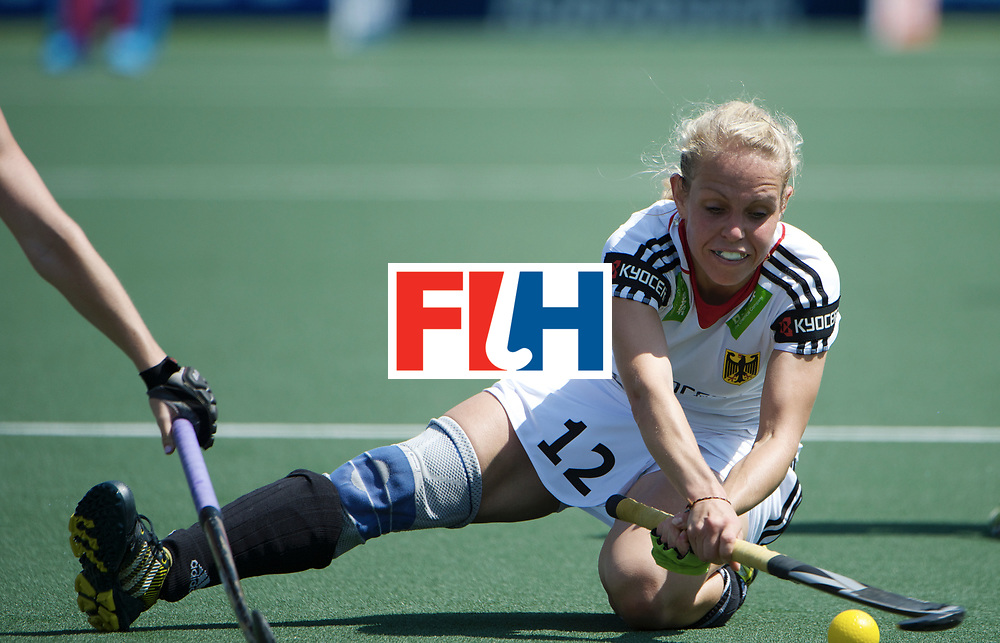 DEN HAAG - Rabobank Hockey World Cup<br /> 22 USA - Germany<br /> Foto: Lydia Haase bakchand shot.<br /> COPYRIGHT FRANK UIJLENBROEK FFU PRESS AGENCY