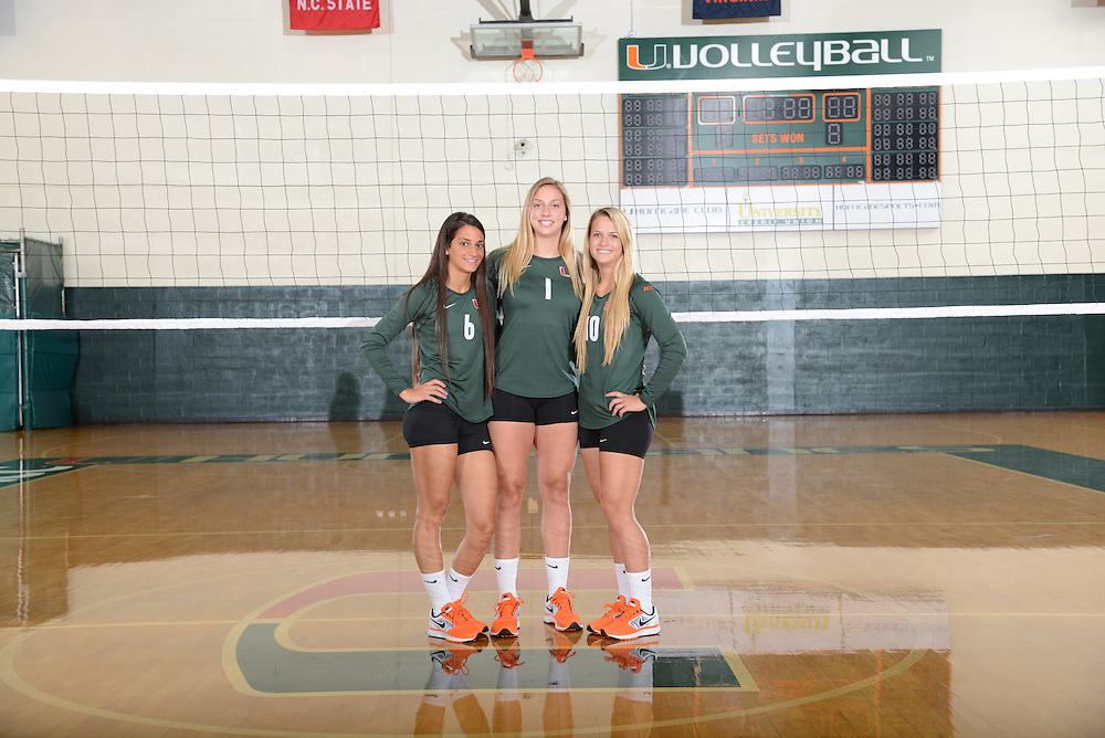 2013 Miami Hurricanes Volleyball Photo Day