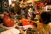 MEXICO, MEXICO CITY, MARKETS a 'Herbolaria' in the So�ora Market; famous for herbal medicines, magic potions and spiritual products
