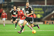 Apostolos Vellios (Nottingham Forest) runs with the ball during the EFL Sky Bet Championship match between Barnsley and Nottingham Forest at Oakwell, Barnsley, England on 25 November 2016. Photo by Mark P Doherty.