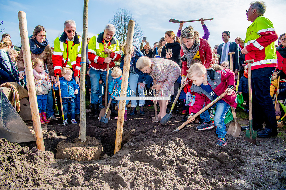 UTRECHT - Princess Beatrix is ​​planning a king's lime in the Griftpark. The tree was presented to the princess by an initiative group In Freedom Connected, a network of religions and philosophies.  ROBIN UTRECHT