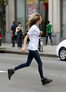 Aug. 26, 2014 - New York City, NY, United States - <br /> <br /> Model Cara Delevingne In New York<br /> <br /> Model Cara Delevingne takes a cab to Chelsea and dashes across the street on August 26 2014 in New York City <br /> ©Exclusivepix