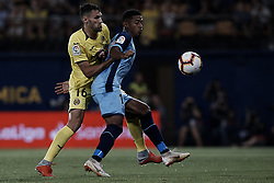 August 31, 2018 - Vila-Real, Castellon, Spain - Antony Lozano (R) of Girona FC competes for the ball with Alfonso Pedraza of Villarreal CF during the La Liga match between Villarreal CF and Girona FC at Estadio de la Ceramica on August 31, 2018 in Vila-real, Spain  (Credit Image: © David Aliaga/NurPhoto/ZUMA Press)