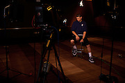 {June 27, 2012} {4:00pm} -- New York, NY, U.S.A<br /> Duke basketball star Austin Rivers waits quietly for an ESPN interview at the Westin Hotel before the NBA draft Thursday in Manhattan, New York on June 27, 2012. <br /> <br /> Photo by Melanie Burford, Freelance