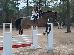 horse jumping in a competition in Aiken, SC