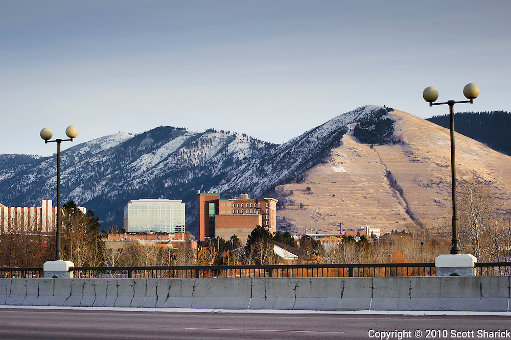 Not much snow on the sunny side of the mountains in Missoula, Montana. Missoula Photographer, Picture of Missoula