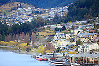 Queenstown, on the shores of Lake Wakatipu, South Island, New Zealand.