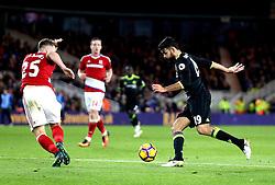 Diego Costa of Chelsea takes on Calum Chambers of Middlesbrough - Mandatory by-line: Robbie Stephenson/JMP - 20/11/2016 - FOOTBALL - Riverside Stadium - Middlesbrough, England - Middlesbrough v Chelsea - Premier League
