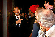 Presidential Hopeful Barack Obama (D) speaking at the Manchester Palace Theatre.
