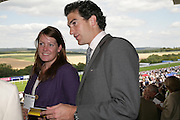 Edward and Lady Tamara van Cutsem, Glorious Goodwood. 31 July 2007.  -DO NOT ARCHIVE-© Copyright Photograph by Dafydd Jones. 248 Clapham Rd. London SW9 0PZ. Tel 0207 820 0771. www.dafjones.com.