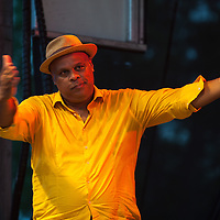 Chucito Valdes performs at the Green River Festival, July 10, 2015.