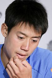 May 7, 2018 - Madrid, Spain - Kei Nishikori  press conference during day three of the Mutua Madrid Open tennis tournament at the Caja Magica on May 7, 2018 in Madrid, Spain. (Credit Image: © Oscar Gonzalez/NurPhoto via ZUMA Press)