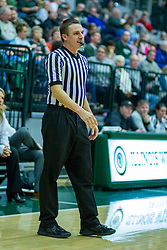 BLOOMINGTON, IL - January 04: Jason Schmitz during a college women's basketball game between the IWU Titans  and the Millikin Big Blue on January 04 2020 at Shirk Center in Bloomington, IL. (Photo by Alan Look)