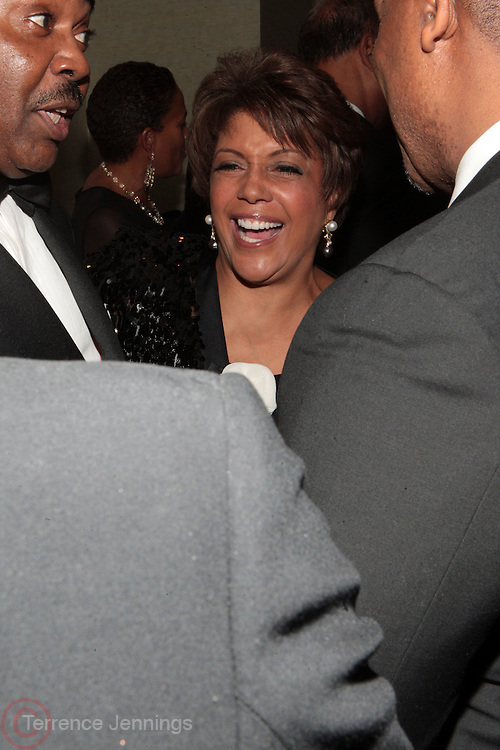 3 March 2011- New York, NY-  l to r: Linda Johnson and Stephen Barr at the UNCF ' A Mind is'  Gala held at the Marriott Marquis Hotel on March 3, 2011 in New York City. Photo Credit: Terrence Jennings