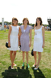 Left to right, ELEANOR CHAPMAN, the COUNTESS OF WOOLTON and GENEVIEVE CHAPMAN at the Cartier International Polo at Guards Polo Club, Windsor Great Park on 27th July 2008.<br /> <br /> NON EXCLUSIVE - WORLD RIGHTS