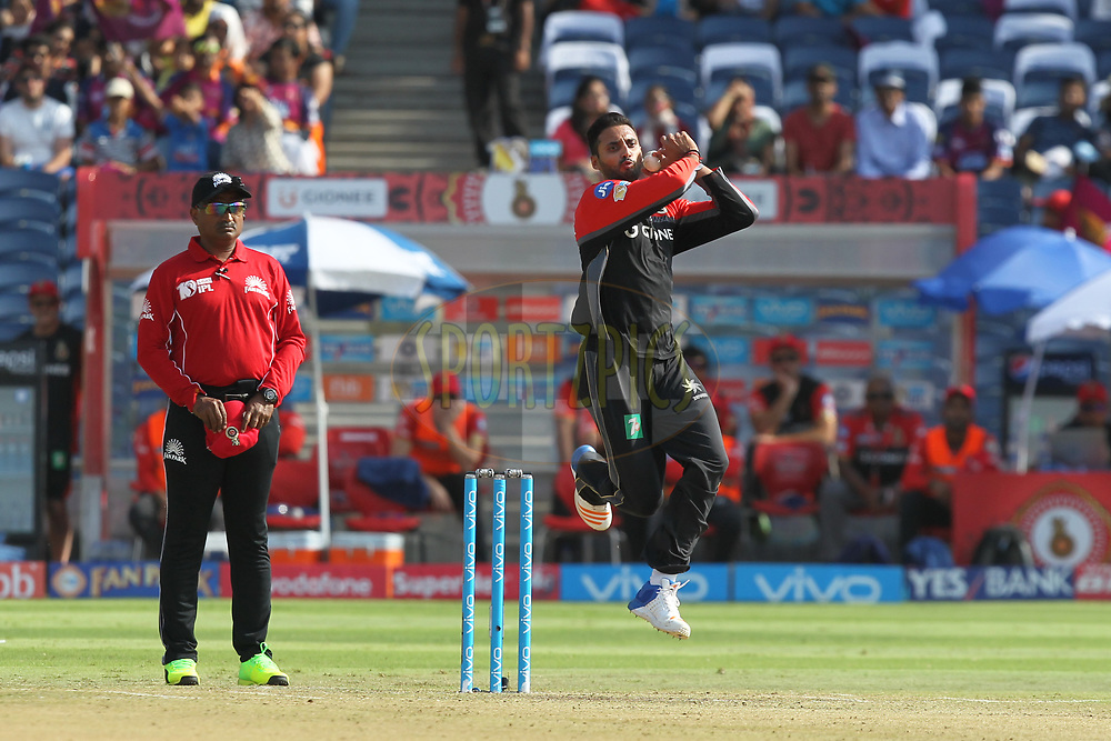 Sreenath Arvind of Royal Challengers Bangalore during match 34 of the Vivo 2017 Indian Premier League between the Rising Pune Supergiants and the Royal Challengers Bangalore   held at the MCA Pune International Cricket Stadium in Pune, India on the 29th April 2017Photo by Prashant Bhoot - Sportzpics - IPL