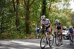 Chantal Blaak (NED) leads the break on the categorised climb at Boels Ladies Tour 2018 - Stage 5, a 159.7km road race in Sittard, Netherlands on September 1, 2018. Photo by Sean Robinson/velofocus.com