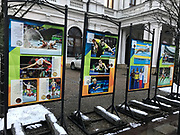 Poland, Warsaw - 2017 December 01: Photo Exhibition &quot;Rio 2016&quot; by &copy; Adam Nurkiewicz at Krakowskie Przedmiescie street on December 01, 2017 in Warsaw, Poland.<br /> <br /> Mandatory credit:<br /> Photo by &copy; Adam Nurkiewicz<br /> <br /> Adam Nurkiewicz declares that he has no rights to the image of people at the photographs of his authorship.<br /> <br /> Picture also available in RAW (NEF) or TIFF format on special request.<br /> <br /> Any editorial, commercial or promotional use requires written permission from the author of image.