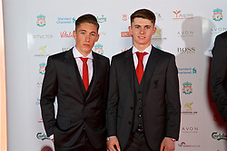 LIVERPOOL, ENGLAND - Tuesday, May 9, 2017: Liverpool's Wales International players Harry Wilson and Ben Woodburn arrive on the red carpet for the Liverpool FC Players' Awards 2017 at Anfield. (Pic by David Rawcliffe/Propaganda)