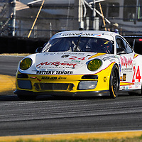 Team Alex Job Racing competing at the Rolex 24 at Daytona 2012