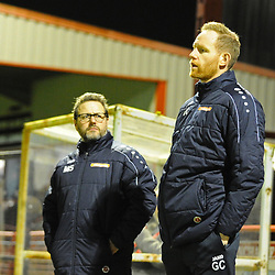 TELFORD COPYRIGHT MIKE SHERIDAN Gavin Cowan during the Vanarama Conference North fixture between AFC Telford United and Altrincham at The J Davidson Scrap Stadium (Moss lane) on Tuesday, February 4, 2020.<br /> <br /> Picture credit: Mike Sheridan/Ultrapress<br /> <br /> MS201920-045