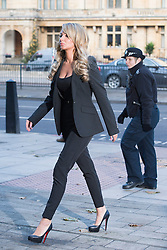 © London News Pictures. 19/12/2013 . TULISA CONTOSTAVLOS arriving at Westminster Magistrates court on London where she is due to face charges of supplying a class A drug. Former X-Factor judge Tulisa and Mike GLC (real name Michael Coombs)  are accused of supplying a class A drug to an investigative journalist. Photo credit : Ben Cawthra/LNP