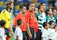 20100819: LISBON, PORTUGAL - Sporting Lisbon vs Brondby: UEFA Europa League 2010/2011 Play-Offs - First Leg. In picture: referee Robert Schoergenhofer, assistant referees Mario Strudl, Johannes Koenig. PHOTO: Alexandre Pona/CITYFILES