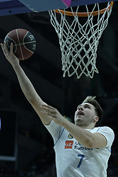 April 29, 2018 - Madrid, Madrid, Spain - LUKA DONCIC  of Real Madrid in action during a Liga Endesa Basketball game between Estudiantes and Real Madrid, at the Palacio de los Deportes, in Madrid, Spain, 29 April 2018. (Credit Image: © Oscar Gonzalez/NurPhoto via ZUMA Press)