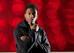 LIVERPOOL, ENGLAND - Wednesday, October 23, 2013: Liverpool's Daniel Sturridge poses for a portrait at the Radisson Blu Hotel in Liverpool. (Pic by David Rawcliffe/Propaganda)