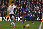 Pape Souare on the turn during the Barclays Premier League match between Crystal Palace and Tottenham Hotspur at Selhurst Park, London, England on 23 January 2016. Photo by Michael Hulf.