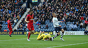 Eoin Doyle Goes close for Preston North End during the Sky Bet Championship match between Preston North End and Blackburn Rovers at Deepdale, Preston, England on 21 November 2015. Photo by Pete Burns.