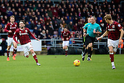 Northampton Town Striker Ricky Holmes passes to Northampton Town Midfielder Lee Martin during the Sky Bet League 2 match between Northampton Town and York City at Sixfields Stadium, Northampton, England on 6 February 2016. Photo by Dennis Goodwin.