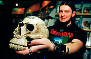 "Nu Metal ""Cradle Of Filth"" fan shows off his skull, UK 2000's."