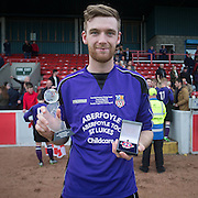 Alan Leith shows off his man of the match award and winners medal - Dundee Argyle win the Scottish Sunday Trophy beating Bullfrog in the final at Forthbank, Stirling<br /> <br /> <br />  - &copy; David Young - www.davidyoungphoto.co.uk - email: davidyoungphoto@gmail.com