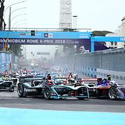 Roma 14/04/2018 <br /> ABB FIA Formula E Championship<br /> Gran Premio di Roma <br /> le fasi della partenza del Gran Premio
