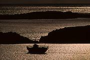 Bunbeg Bay. Fishermen boat wreck.