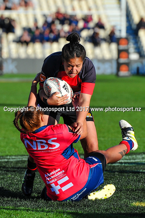 Charntay Poko of Canterbury during the Farah Palmer Cup, Womens rugby match Canterbury V Tasman, AMI Stadium, Christchurch, New Zealand, 30th September 2017.Copyright photo: John Davidson / www.photosport.nz