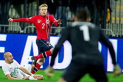 Tom Hogli of Norway during the FIFA World Cup 2014 Group E qualification match between Slovenia and Norway on October 11, 2013 in Stadium Ljudski vrt, Maribor, Slovenia. (Photo by Urban Urbanc / Sportida)