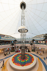 Interior of Marina Mall shopping center in Abu Dhabi in United Arab Emirates UAE