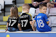 Young AFC Wimbledon fans during the EFL Sky Bet League 1 match between AFC Wimbledon and Bury at the Cherry Red Records Stadium, Kingston, England on 5 May 2018. Picture by Matthew Redman.