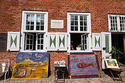 Art gallery in traditional Dutch style house in Dutch Quarter in Potsdam Brandenburg Germany